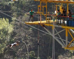 India bungee jumping Rishikesh